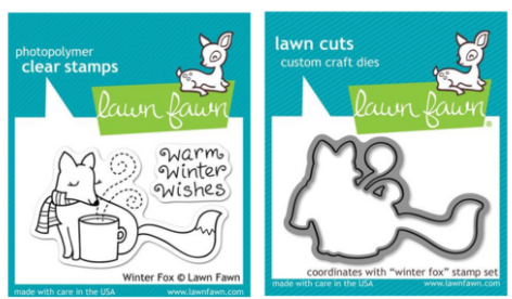Lawn Fawn Winter Fox STAMPS & DIES BUNDLE