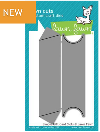 Lawn Fawn Simple Gift Card Slots die