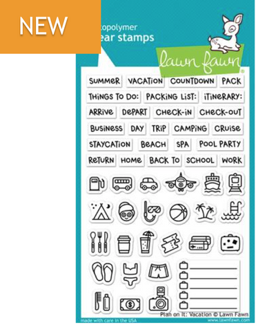 Lawn Fawn Plan on it: Vacation Stamp Set