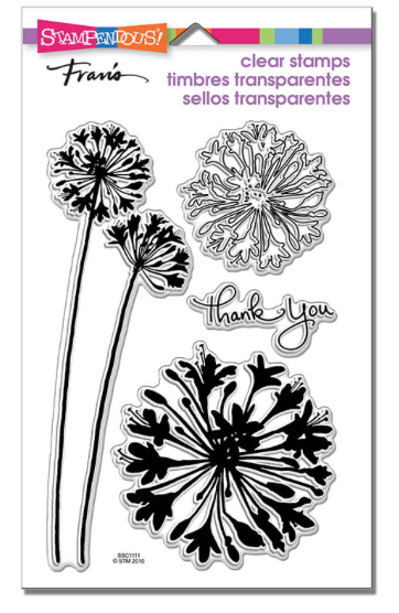 Stampendous Agapanthus Thanks Stamp Set