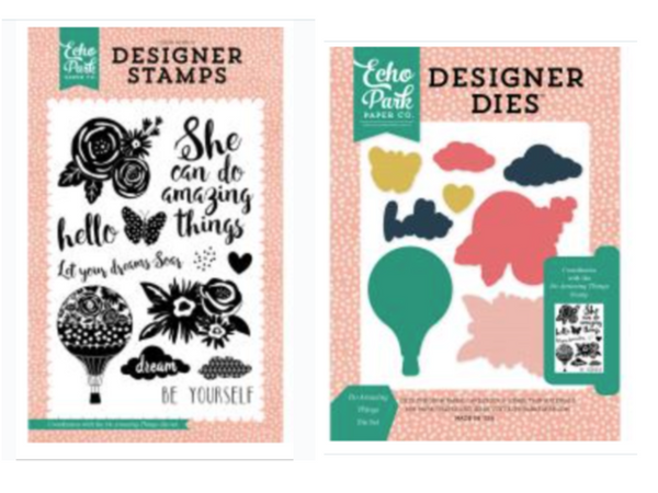 Echo Park Do Amazing Things  Stamp & Die BUNDLE