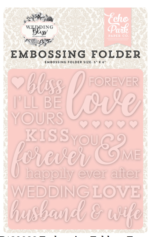 Echo ParkForever Love Embossing Folder