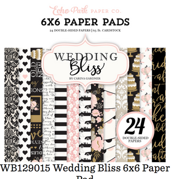 Echo Park Wedding Bliss 6 x 6 Paper Pad
