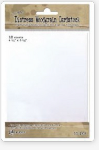Tim Holtz Distress Woodgrain Cardstock (12 sheets)