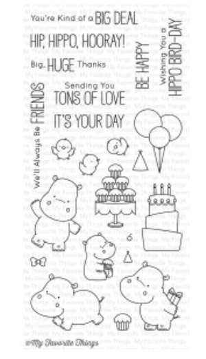 MFT BB Happy Hippos Stamp Set