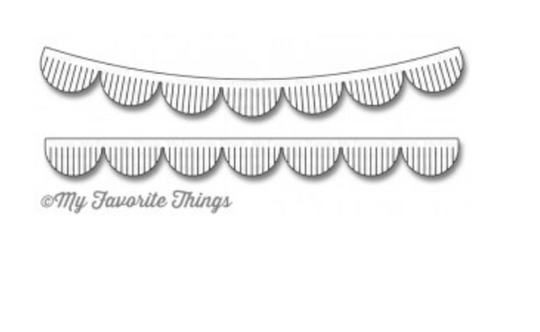 MFT Fringed Scallop Borders Die Set