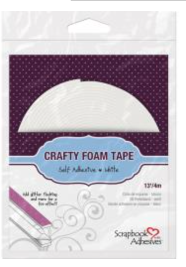 "Scrapbook Adhesives Crafty Foam  Roll Tape  White, 13' x .39"" thick"