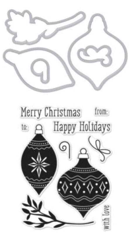 Hero Arts Holiday Ornaments Stamp & Cut set