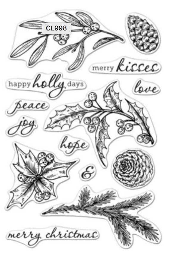 Hero Arts Happy Holly Days stamp set