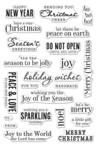 Hero Arts Christmas Messages stamp set