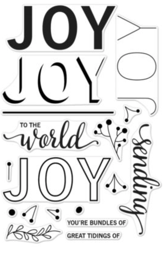 Hero Arts Color Layering Joy Messages stamp set