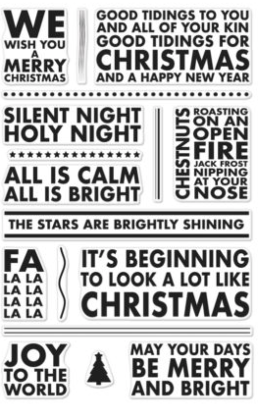 Hero Arts Poster Christmas Carols stamp set