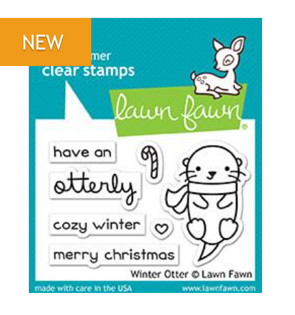 Lawn Fawn Winter Otter Stamp Set