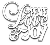 Penny Black Peace Love and Joy die