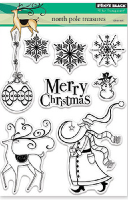 Penny Black North Pole Treasures Stamp Set
