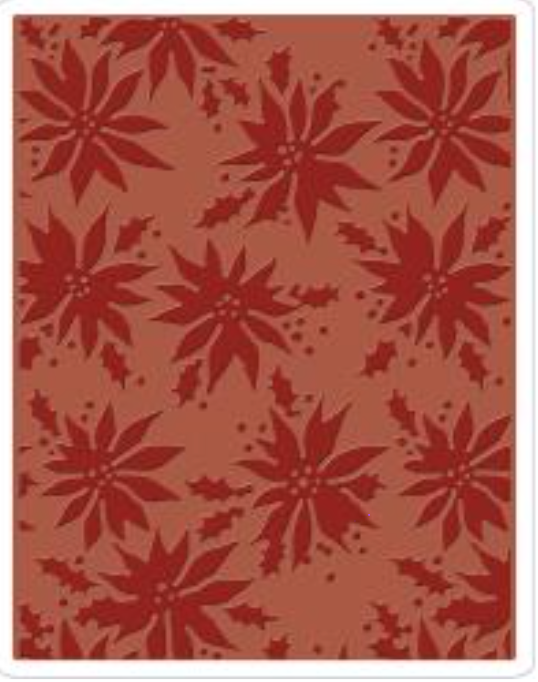 Sizzix Tim Holtz Poinsettias Embossing Folder - Texture Fades