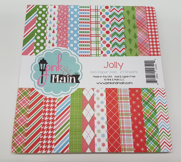 Pink and Main Christmas Jolly  6 x 6 paper pad (24 sheets)