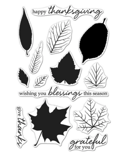 Hero Arts Color Layering Grateful Leaves Stamp Set