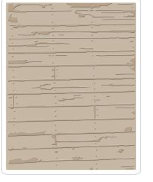 Sizzix Tim Holtz Wood Planks Embossing Folder - Texture Fades