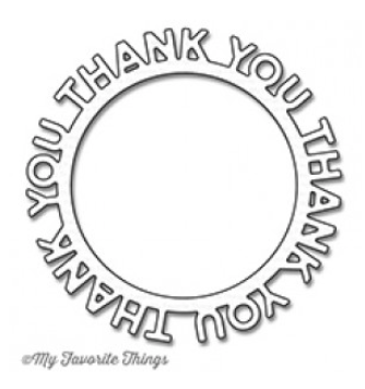 MFT Thank you Circle Frame Die Set