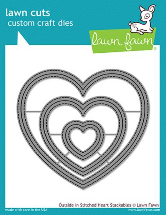 Lawn Fawn Outside In Stitched Heart Stackables (3 dies)