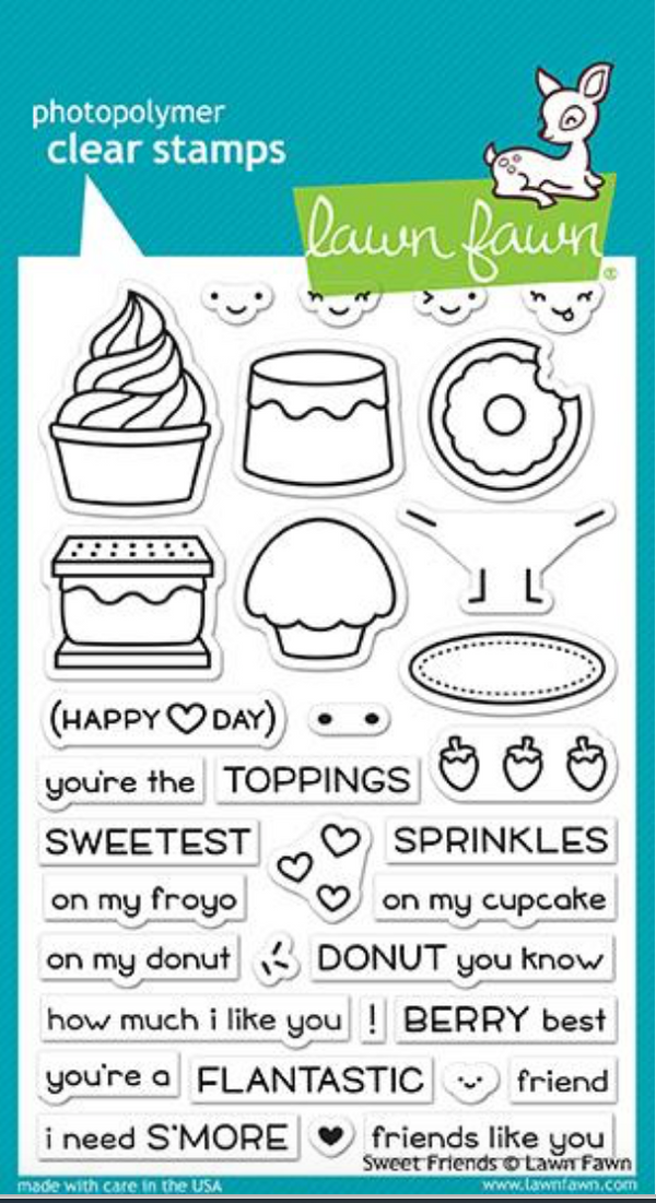 Lawn Fawn Sweet Friends Stamps Set