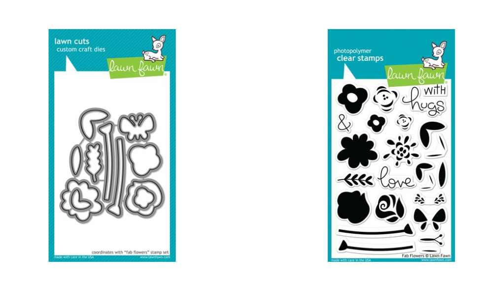 Lawn Fawn Fab Flowers Stamps & Dies Bundle