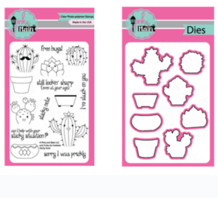 Pink and Main Sticky Note Stamp & Die BUNDLE