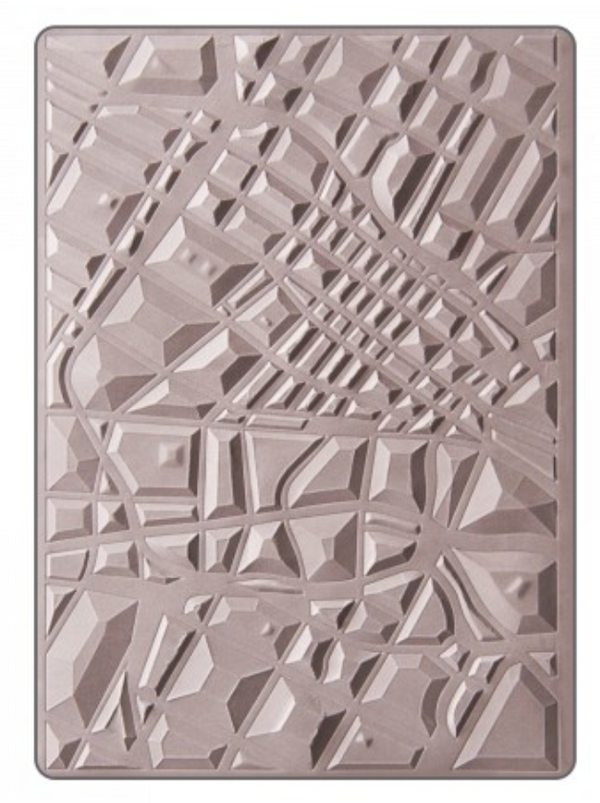 Sizzix 3-D Map Embossing Folder
