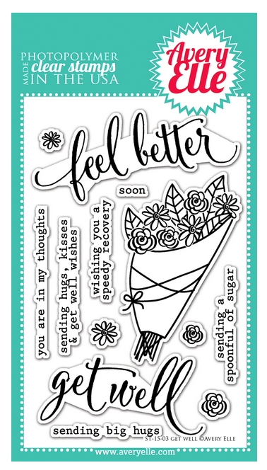 Avery Elle Get Well 4 x 6 Stamp Set