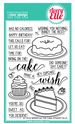 Avery Elle Bring on the Cake 4 x 6 Stamp Set