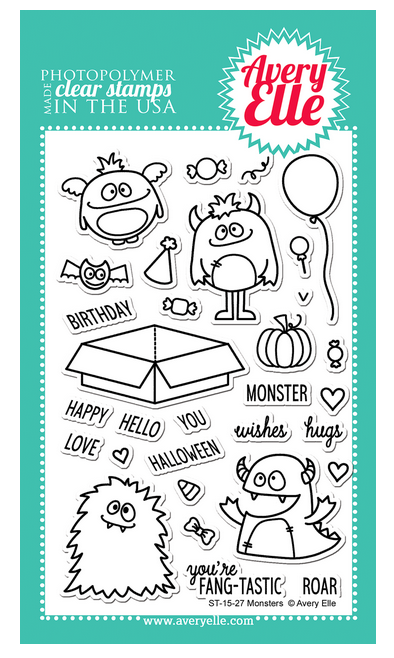 Avery Elle Monsters 4 x 6 Stamp Set