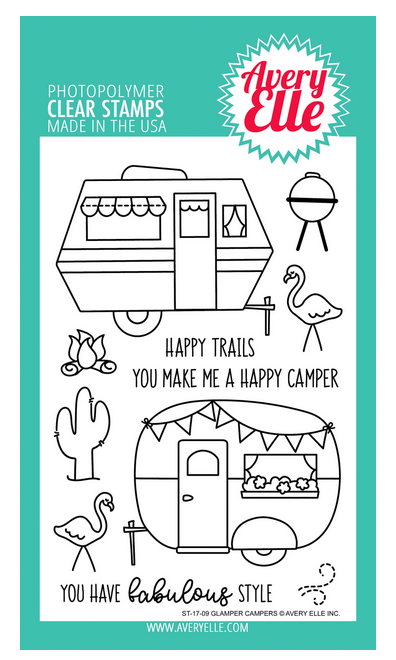 Avery Elle Glamper Campers Clear Stamp Set