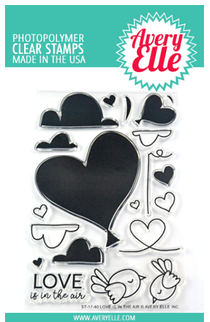 Avery Elle Love is in the Air Clear Stamp Set
