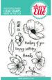 Avery Elle Hand Drawn Florals Clear Stamp Set