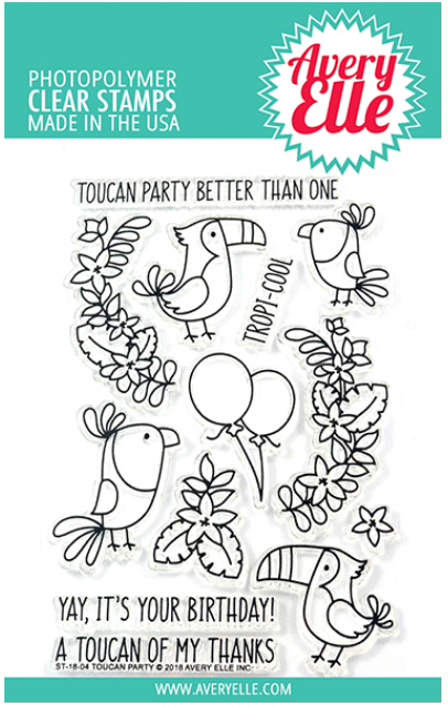 Avery Elle Toucan Party Clear Stamp Set
