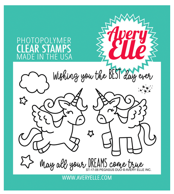 Avery Elle Pegasus Duo Clear Stamp Set