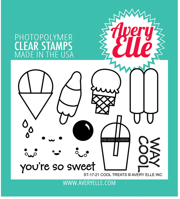 Avery Elle Cool Treats Clear Stamp Set