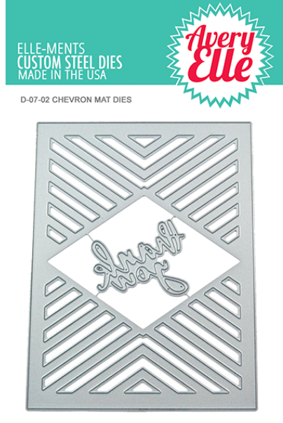 Avery Elle Chevron Mat Elle-ments die set