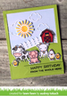 Lawn Fawn Hay There Stamp Set