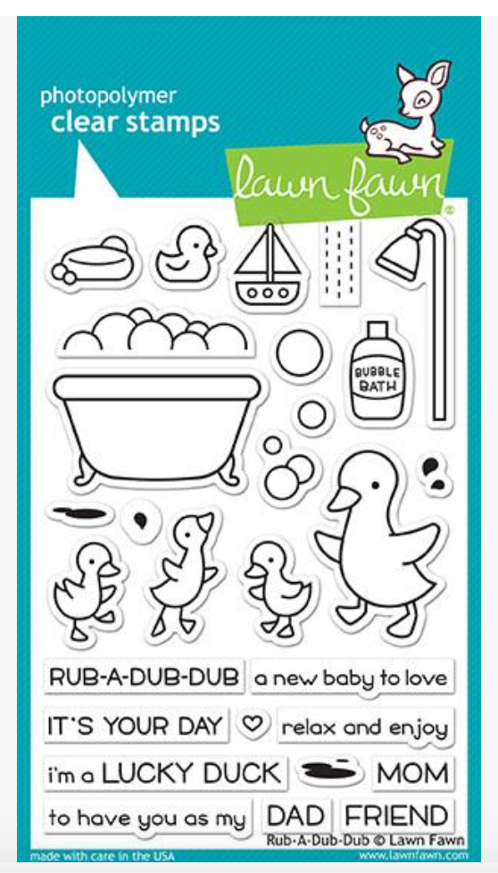 Lawn Fawn Rub-A-Dub-Dub Stamp Set