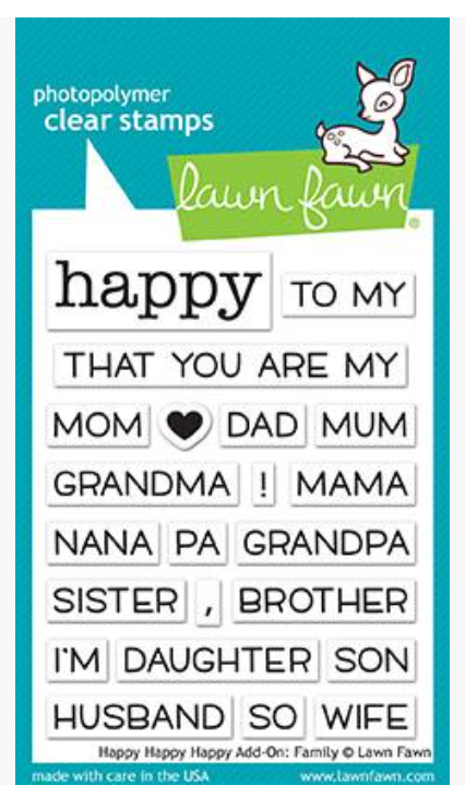 Lawn Fawn Happy Happy Happy Add-On Family Stamp Set