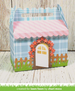 Lawn Fawn Scalloped Treat Box Spring House Add-On Die Set