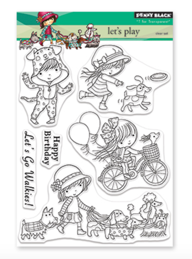 Penny Black Let's play Stamp Set