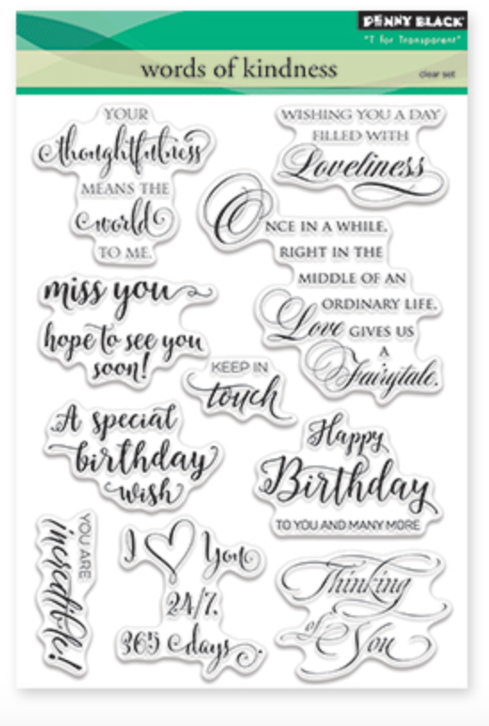 Penny Black Words of Kindness Stamp Set