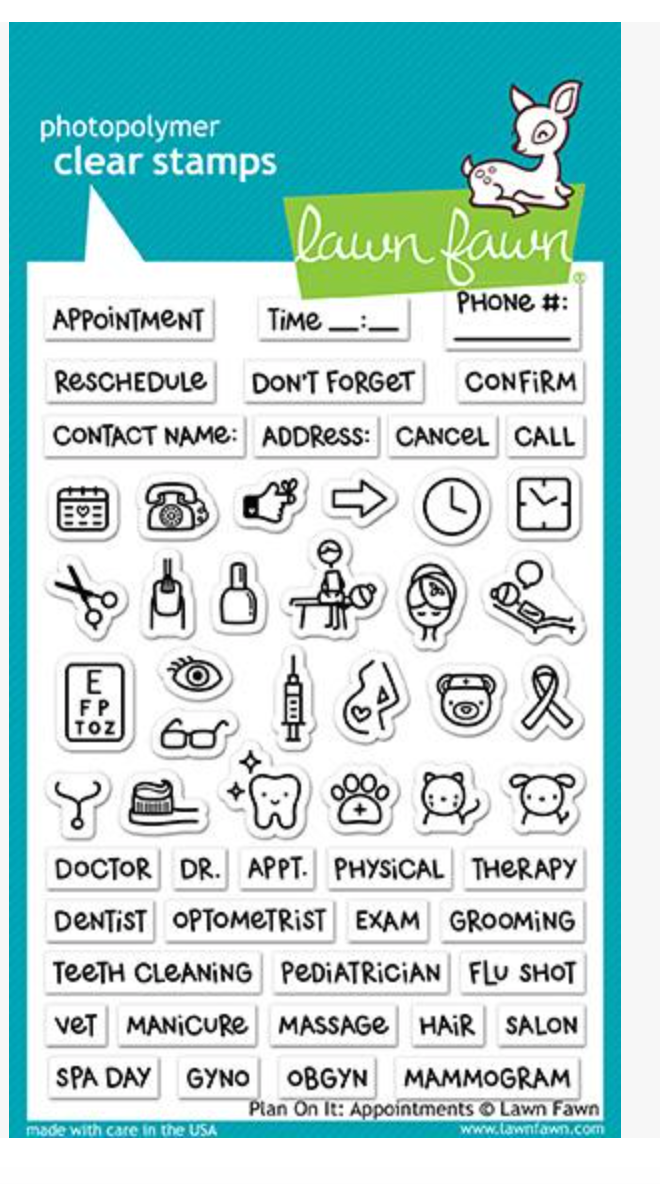 Lawn Fawn Plan on it: Appointments Stamp Set