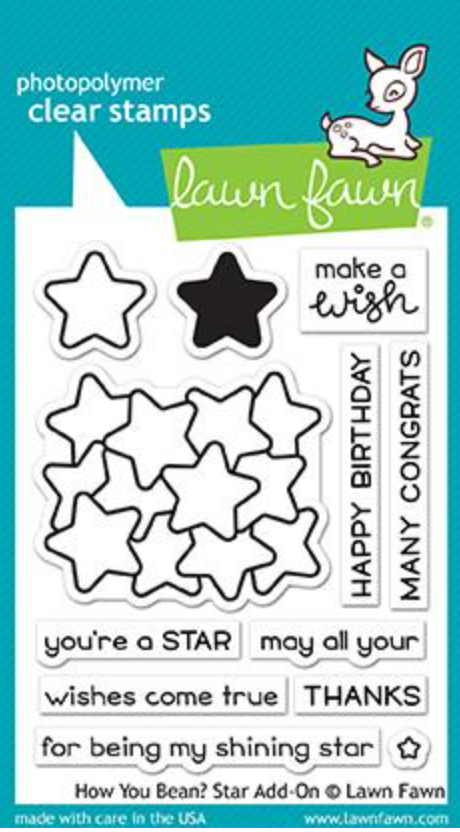 Lawn Fawn Have you Bean? Star Add-on Stamp Set