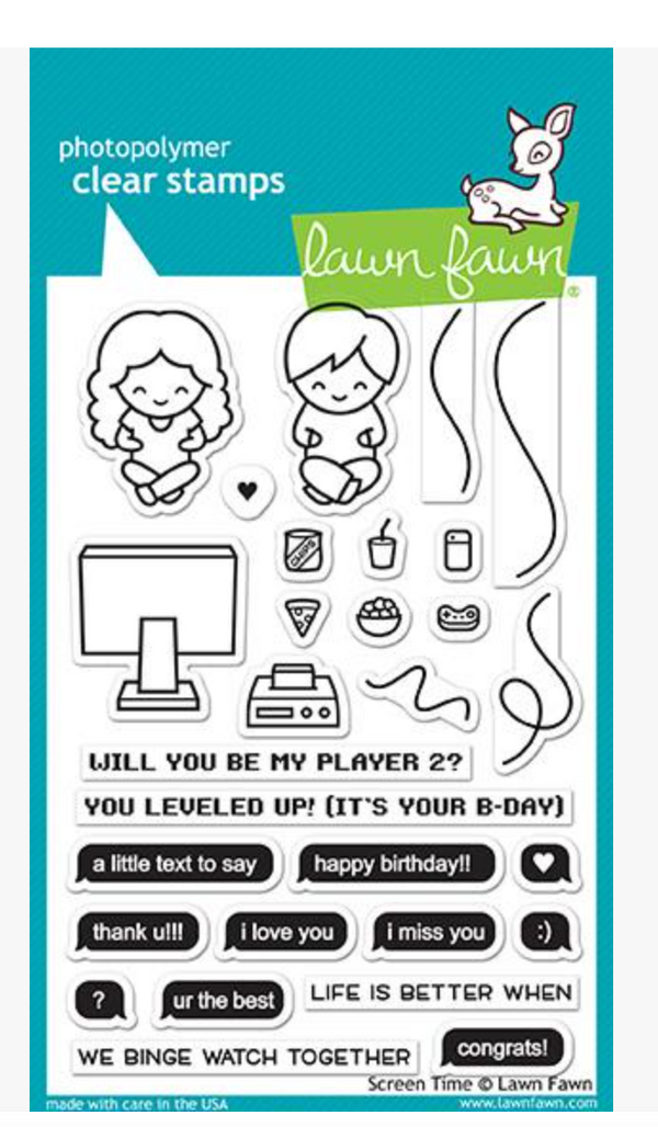 Lawn Fawn Screen Time Stamp Set