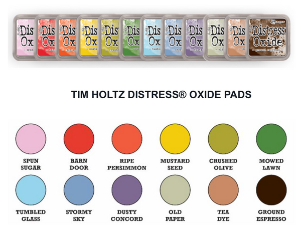 July 2018 NEW Tim Holtz Distress Oxide 12 Inkpads  PRE-ORDER
