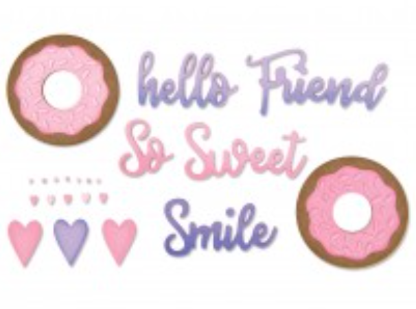 Sizzix  Phrases, sweet  & donuts